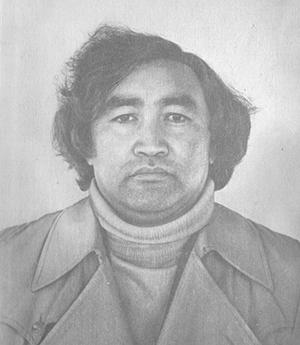 Өтежан Нұрғалиев. 1978 жыл. Суретті түсірген Аманқос Мектеп-тегі.