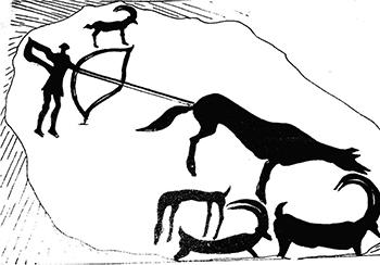 4. «Қанатты адам тұлғалары  (тұлға оюдың әуелгі нұсқаларына жатады)